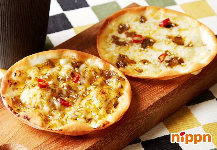 高菜の餃子ピザ・2種